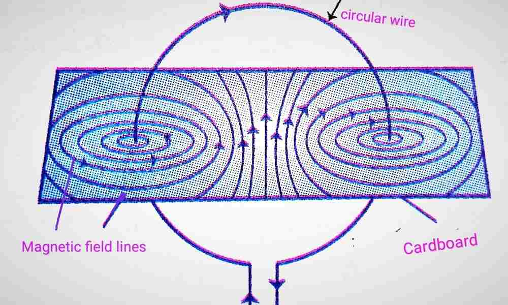 Magnetic field lines due to a Current carrying circular wire